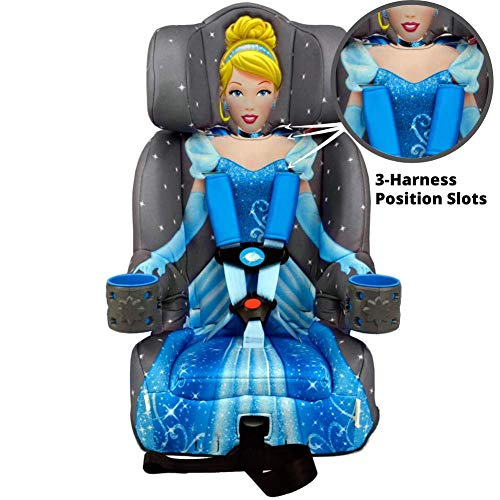 51YWNd67UIL - KidsEmbrace 2-in-1 Harness Booster Car Seat, Disney Princess Cinderella, Gray