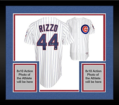 Framed Anthony Rizzo Chicago Cubs Autographed Majestic White Replica Pinstripe Jersey - Fanatics Authentic Certified Autographed Majestic Authentic Pinstripe Jersey