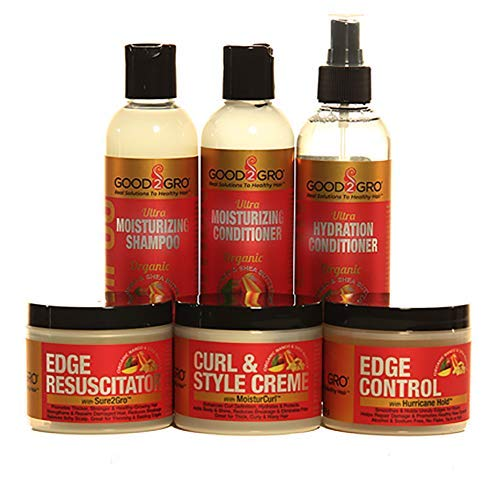 Good2Gro Mango & Shea Butter-Hair Growth System- Promotes Hair Growth, Stops Split Ends and Breakage- Enhances a Health Looking Hair Style- For Men and Women from GOOD2GRO GOOD HAIR HEALTHY HAIR