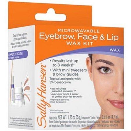 Sally Hansen Microwaveable Eyebrow Face & Lip Wax Kit (Pack of 2)