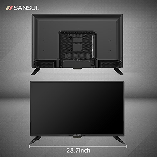 SANSUI 32-Inch LED TV, 720P 60Hz Slim Flat Television High Definition and Widescreen Monitor (S32Z118) with HDMI Cable PCA Input and USB 1366×768 (2018 Model)