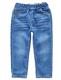 Kidscool Space All Matching Classic Washed Elastic Waist Fashion Jeans
