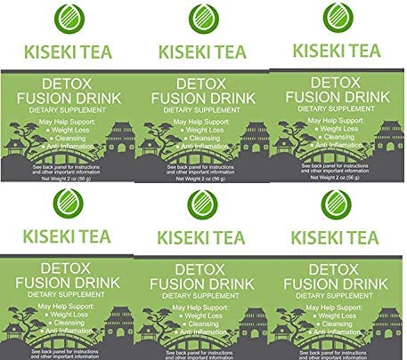 Kiseki Detox Tea for Weight Loss and Belly Fat – 6 Organic Detox Tea Bags 9 All Natural Ingredients That Support Healthy Weight Loss, Body Cleansing, Clear Skin, Bloating and Digestive System