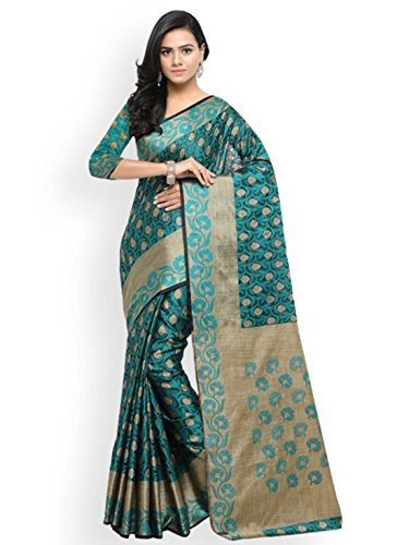 Export Silk Design Saree Woven Banarasi Cotton Teal Indian Handicrfats Lenora 5I0w5aUq