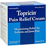 Topricin Pain Relief Therapy Cream (4 oz) Fast Acting Pain Relieving Rub for Arthritis, Back & Neck Aches, Fibromyalgia, Sciatica, Plantar Fasciitis, Sore Muscles & Joints, Carpal Tunnel, Chronic Pain