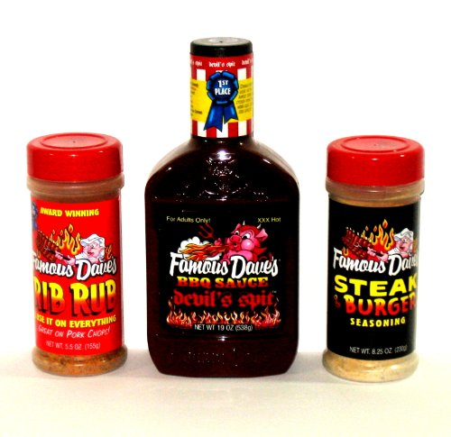 FAMOUS DAVE'S Variety Pack with Devil's Spit BBQ Sauce (3-Pack)
