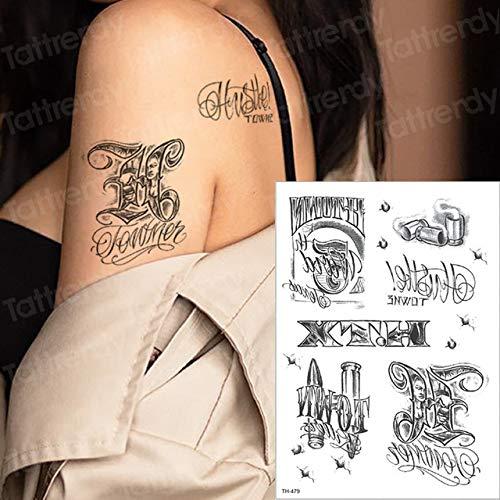 Handaxian 3 Piezas Tatuaje Mujer Tatuaje Negro Pegatina pájaro ...
