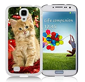 Hot Sell Design Samsung S4 TPU Protective Skin Cover Christmas Cat White Samsung Galaxy S4 i9500 Case 41