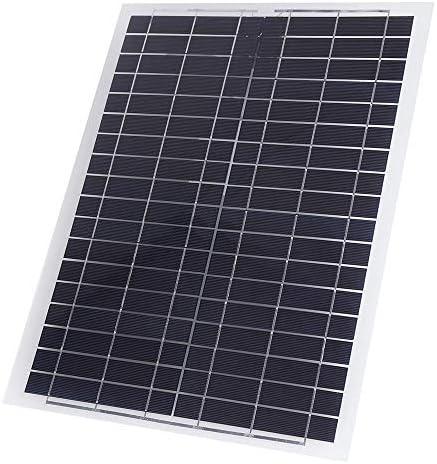 XULJ Sonnenkollektor 20W 12V Poly Flexible Poly Sonnenkollektor-Ladegerät Handy-Ladegerät for RV Boot Solar-Panel tragbar (Color : Black, Size : 20W)