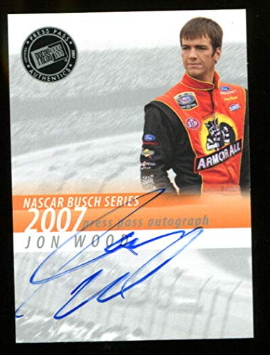 - John Wood 2007 Press Pass Signings On Card Auto Mint 3287