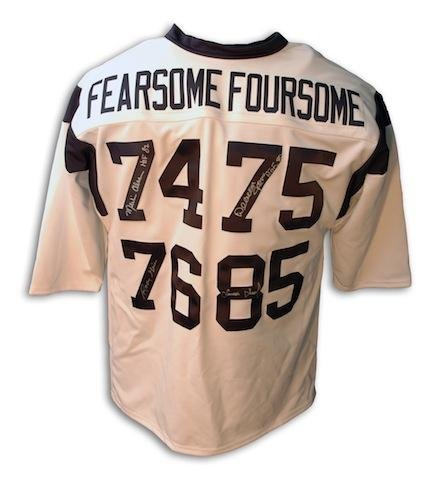 Rosey Grier, Lamar Lundy, Merlin Olsen and Deacon Jones Autographed Jersey - Fearsome Foursome - Autographed NFL Jerseys ()