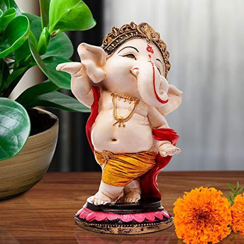 Karigaari India Handcrafted Polyresin Eco Friendly Lord Ganesha Ganpati Idol Figurine   Lord Ganesha Statue for Home…