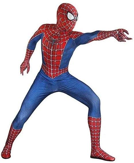 GWNJSSG Traje De Spiderman Boy Deluxe Body Lycra Printing ...