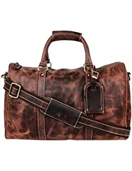 Onlinemaniya Unisex Vintage Leather Travel Bag