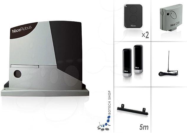 NICE ROBUS 400 Motor 24V para puertas correderas - Kit M: Amazon ...