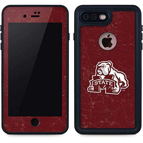Skinit Mississippi State Bulldogs Distressed iPhone 8 Plus Waterproof Case - Officially Licensed Phone Case - Fully Submersible - Snow, Dirt, Water Protected iPhone 8 Plus Cover