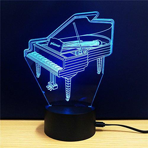 HONGLINToque la luz de noche led colorida, auriculares, guitarra, lámpara USB, lámpara de acrílico colorida llevada 3d, td109: Amazon.es: Iluminación