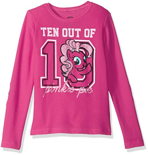 My Little Pony Big Girls' Mlp Ten Out of 10 Long-Sleeved Thermal W Elbow Patches, Hot Pink, S (Girls Long Sleeved Thermal)