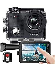 AKASO Action cam/onderwatercamera, 4 K wifi, 40 m ijs, antishake, actiecamera, 4 x zoom, met touchscreen, afstandsbediening, sportcamera, waterdichte behuizing, helmaccessoireskit V50X