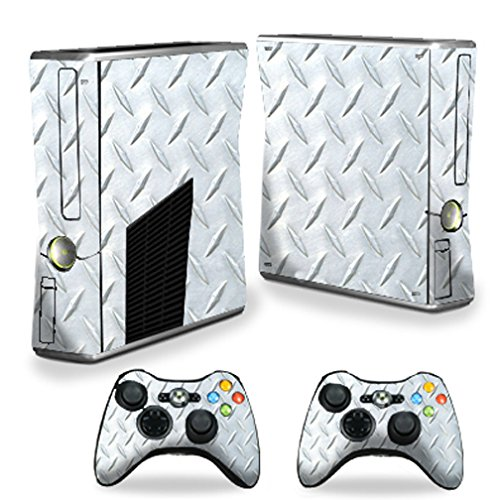 Vinyl Usa Shed - MightySkins Skin For X-Box 360 Xbox 360 S console - Diamond Plate | Protective, Durable, and Unique Vinyl Decal wrap cover | Easy To Apply, Remove, and Change Styles | Made in the USA