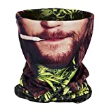 Aiyuda Neck Tube Motorcycle 3D All Over Print Bandana Neck Gaiter Thin Ski Mask Multifunctional Headwear Ear Warmer Headband Headwrap