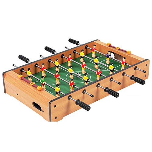 Tabletop Foosball Table,Deluxe Wooden Mini Table Top Foosball Game with 6 Soccer Balls for Game Rooms, Arcades, Bars, Family Night