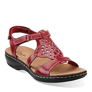 Clarks Women's Leisa Taffy,Red Leather,US 12 W
