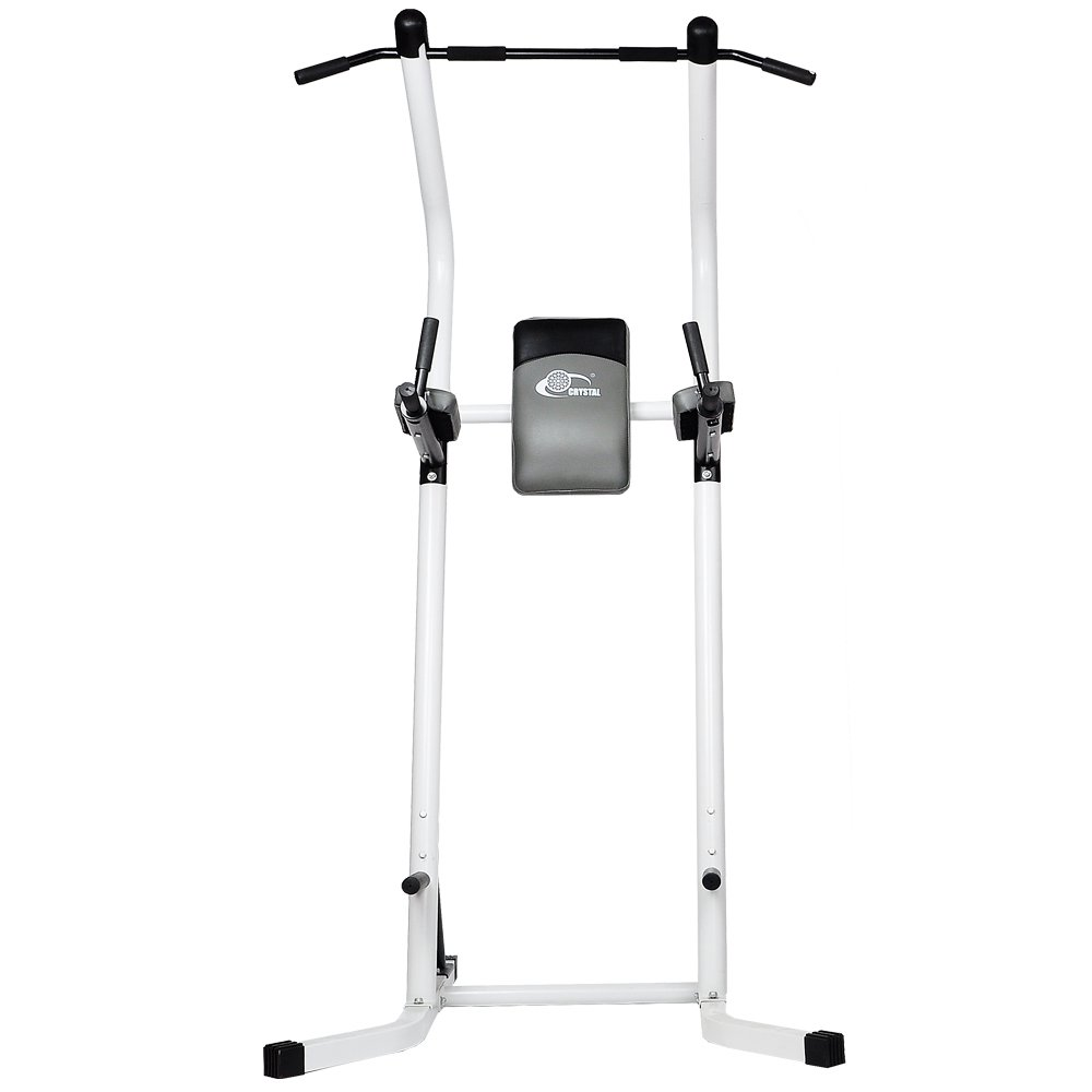 XPH Pull Up Dip Station Power Tower Workout Tower Fitness Station Body Tower Sports Equipment Pull Up Bar Standing Tower Home Fitness Workout Station (white) by XPH (Image #4)