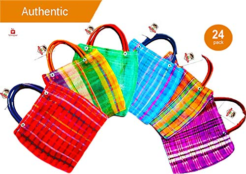 Alondra's Imports️ New (TM) Uniquely Designed, Mini Mexican Tote Favor Bags (Mexican Candy Bags - Mexican Mercado Bags - Mexican Mesh Bags - Bolsas Para Fiestas) 10 x 7 - -