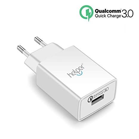 helpers lab - Cargador USB (18 W, Quick Charge 3.0, con ...