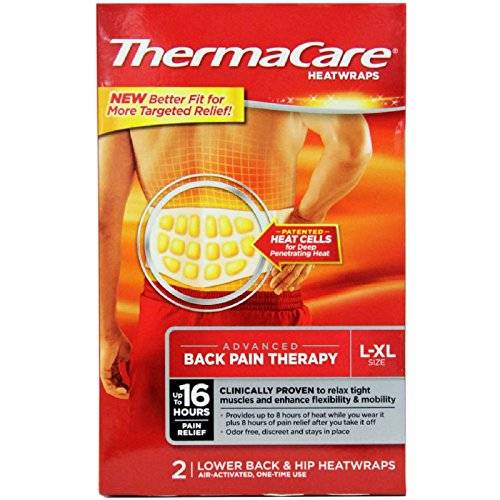 (Thermacare Lower Back & Hip HeatWraps, L/XL, 8)