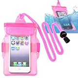 Insten Waterproof Bag Case for Cell Phone / PDA, Hot Pink