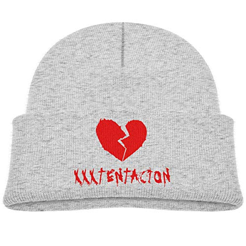 - MUPTQWIU Cool Trendy Xxxtentacion Children's Beanie Hat Cap Cuffed Knit Beanie Hat Gray
