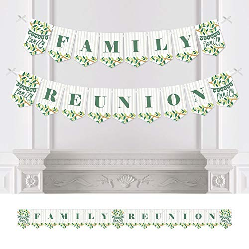 Big Dot of Happiness Family Tree Reunion - Family Gathering Party Bunting Banner - Party Decorations - Family Reunion]()