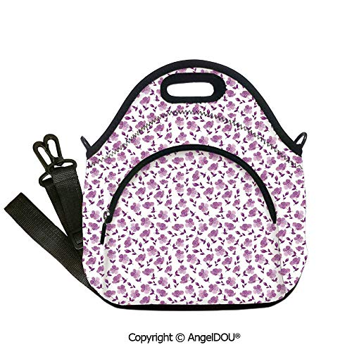 AngelDOU House Decor waterproof insulation portable lunch box bag Floral Pattern Romantic Decorating Valentines Day Wedding Anniversary Art Decorative for women Portable Insulate12.6x12.6x6.3(inch) (Day Decorating For Valentine)