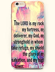 iPhone 6 Case,OOFIT iPhone 6 (4.7) Hard Case **NEW** Case with the Design of the lord is my rock my fortess my deliverer my god my stronghold in whom I take refuge my shield the glory of my salvation and my high tower psalm 18:2 - Case for Apple iPhone iPhone 6 (4.7) (2014) Verizon, AT&T Sprint, T-mobile
