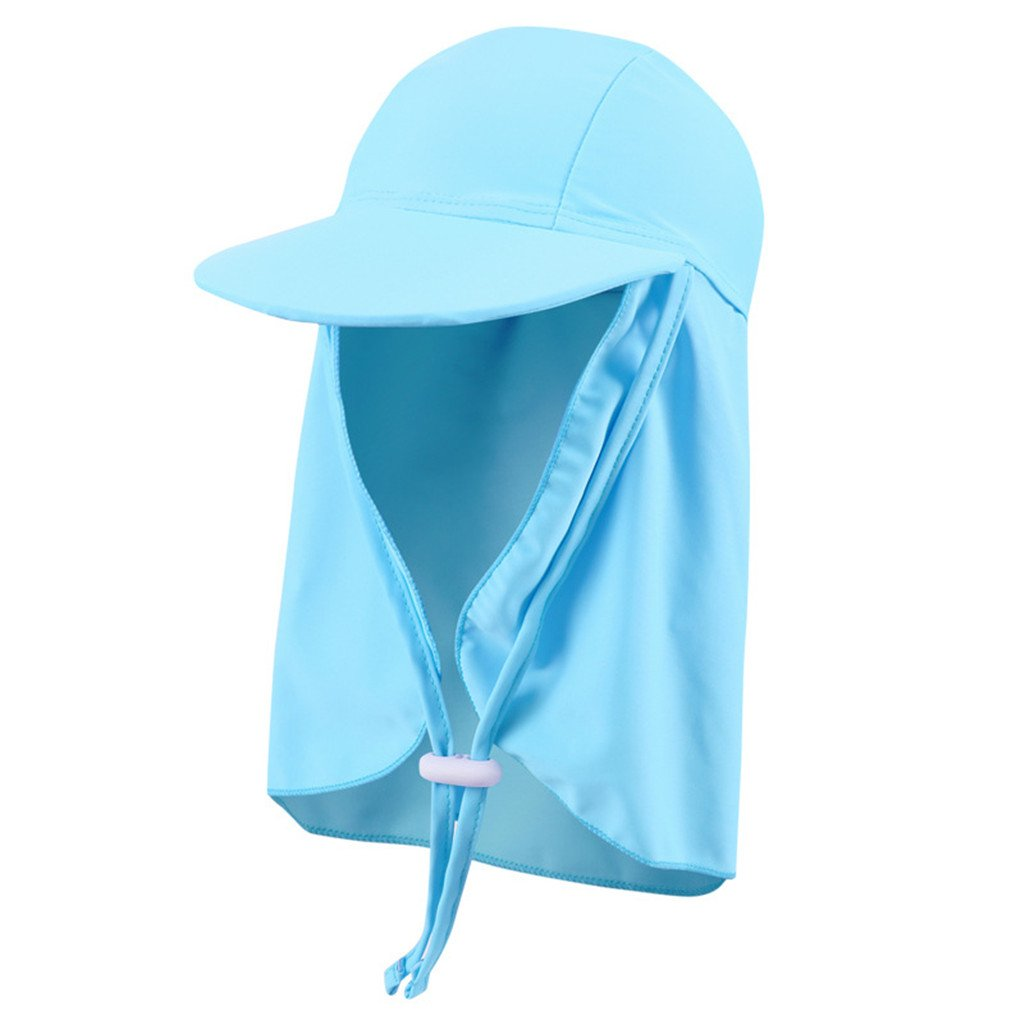 Gogokids Kids Sun Hat Flap Cap, Boys Girls Visor Cap Sun Protection Beach Hat SDW Trading Co. LTD G180419YM0104