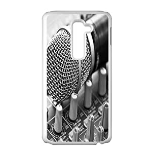 JIANADA Microphone White LG G2 case