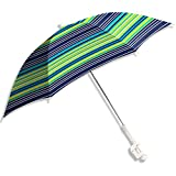 Caribbean Joe CJ-48BLST 48' Clamp on Beach Umbrella with UV Protection, Stripe