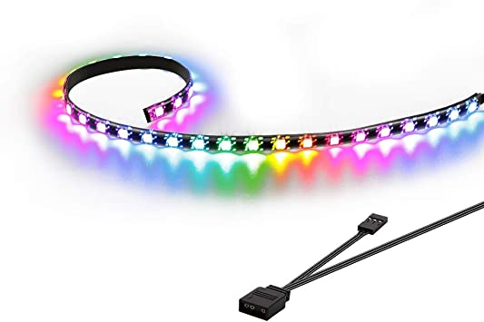 Speclux Addressable LED Strip, RGB LED Strip, Tira LED para Caja de PC Gaming, 50cm(Solo Compatible con encabezado Add de 5 V y 3 Pines): Amazon.es: Electrónica