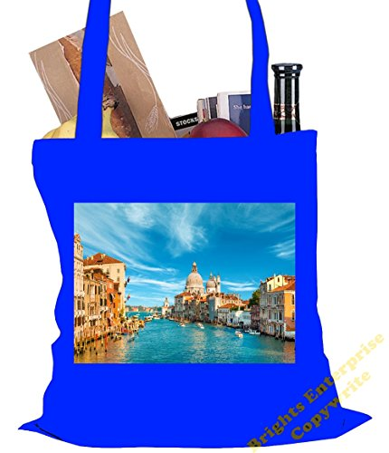 Tote Size original cm reuseable photo Gym bag range litres Canal Beach 38 x of with Bag image 42 An unique Shopping 10 72 Venice Grand The Christmas Blue stocki or Italy tote an from our Birthday rAZwHr