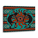 TORASS Canvas Wall Art Print Southwestern Southwest Turquoise Tribal Sun Native Artwork for Home Decor 16'' x 20''