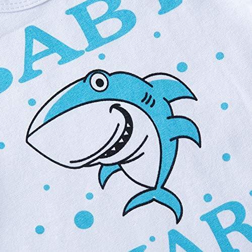 Baby Shark Doo Romper Infant Boys Girls Summer Bodysuit Short Sleeve Jumpsuit Onesie for 0-24M