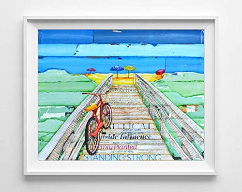 Phillips Art UNFRAMED boardwalk vacation product image