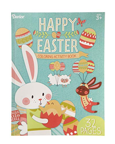 (Darice 30062218 Easter Coloring and Activity Book: 32 Pages, 8.13 x 10.63)