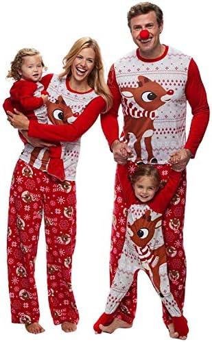 Pijamas Navidad Familia Conjunto Pantalon y Top 2 Piezas ...