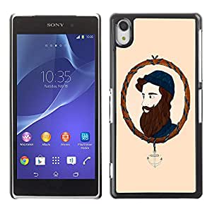 MOBMART Carcasa Funda Case Cover Armor Shell PARA Sony Xperia Z2 - The Bearded Man In A Picture