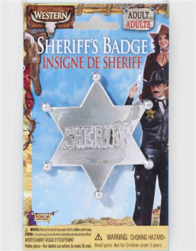 [Wild Western Silver Star Sheriff Badge] (Wild Man Costumes)