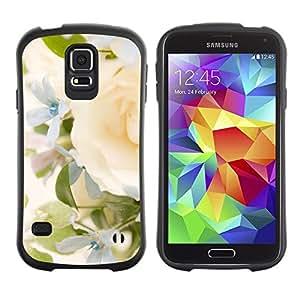 """Pulsar iFace Series Tpu silicona Carcasa Funda Case para Samsung Galaxy S5 , Yellow Rose Green Spring brillante Novia"""""""