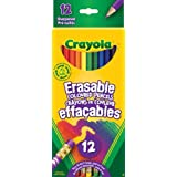 Crayola 12 Erasable Coloured Pencils, Adult Colouring Pencil Crayons, Bullet Journaling, School and Craft Supplies, Drawing Gift for Boys and Girls, Kids, Teens Ages 5, 6,7, 8 and Up, Holiday Gifting, Stocking , Arts and Crafts,  Gifting